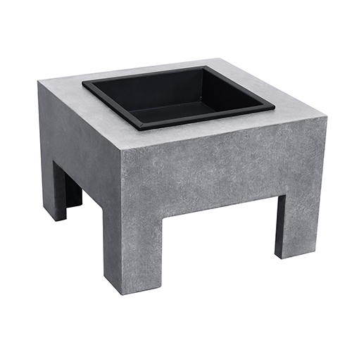 Monolith Fire Nook in Light Gray Cement