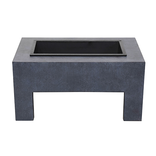 Monolith Fire Basin in Dark Gray Granite