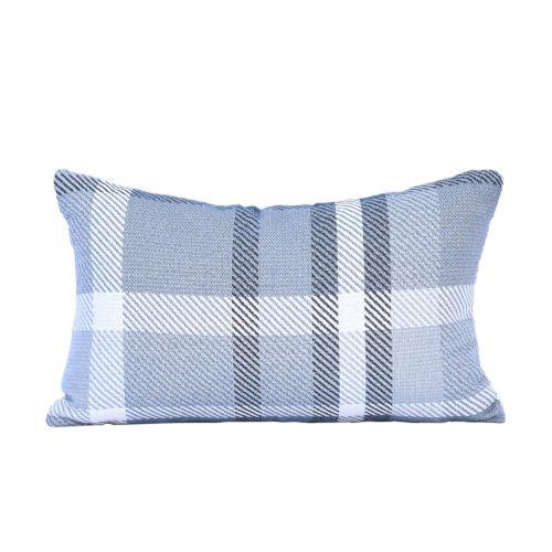 Pacifica Tartan Blue Throw Pillow