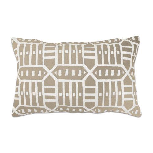 Pacifica Roland Hemp Brown Throw Pillow