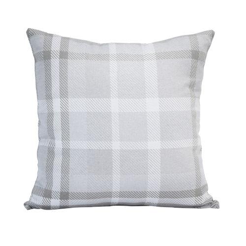 Pacifica 24-Inch Tartan Hemp Brown Throw Pillow