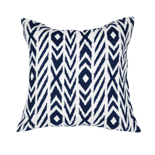 Pacifica 24-Inch Fire Island Blue Throw Pillow
