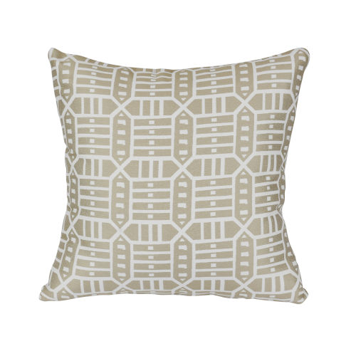 Pacifica 24-Inch Roland Hemp Brown Throw Pillow