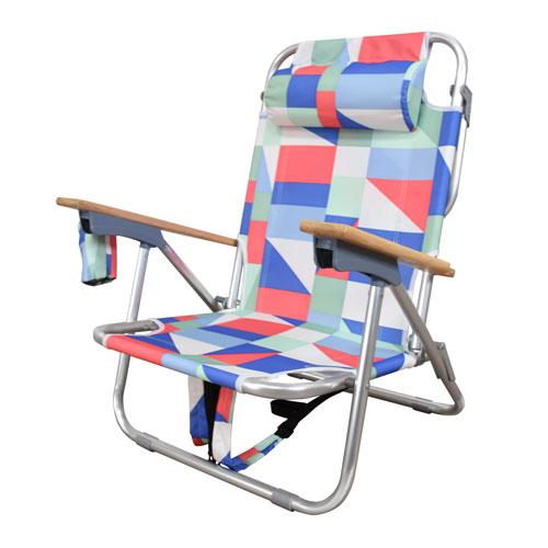 Aluminum Frame 2-in-1 Beach Chair in Quixotic
