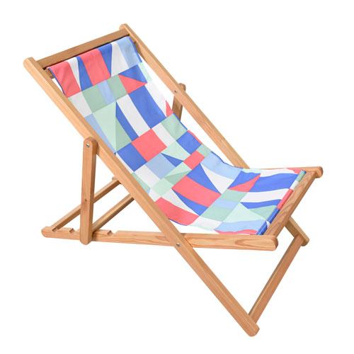 Astella Pine Wood Beach Chair in Quixotic