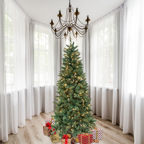 Astella 7-Foot Christmas Tree with 200 Ul-Rated Lights And Stand