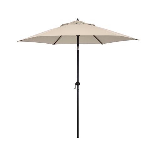 9-Foot Steel Market Umbrella with Push Tilt in Antique Beige