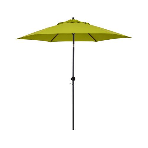 9-Foot Steel Market Umbrella with Push Tilt in Lime Green