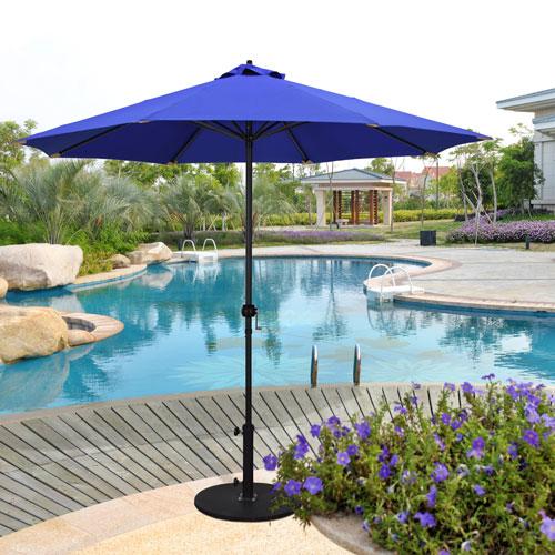 Astella 9-Foot Steel Market Umbrella with Push Tilt in Purple