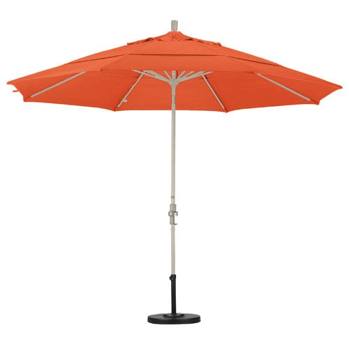 11 Foot Umbrella Aluminum Market Collar Tilt Double Vent Sand/Sunbrella/Tuscan