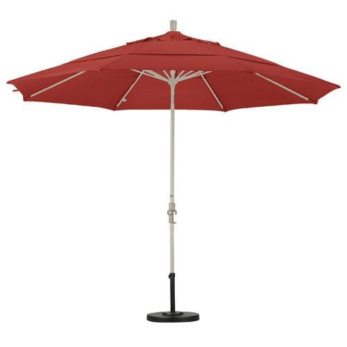 11 Foot Umbrella Aluminum Market Collar Tilt Double Vents Sand/Pacifica/Tuscan