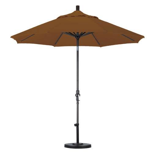 California Umbrella 9 Foot Umbrella Aluminum Market Collar Tilt - Matted Black/Sunbrella/Cork