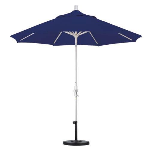 9 Foot Umbrella Aluminum Market Collar Tilt - Sand/Sunbrella/Navy