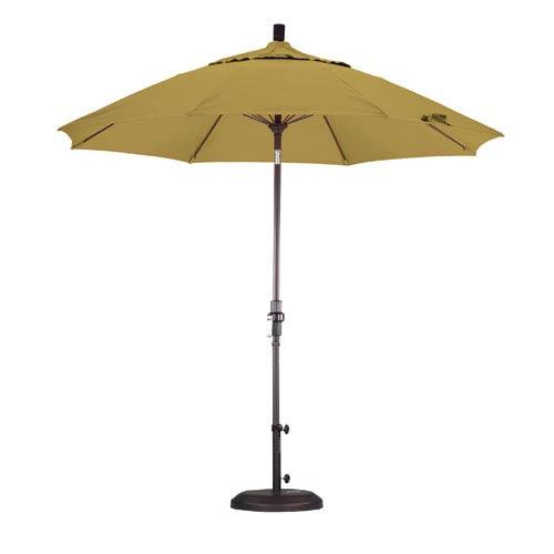 9 Foot Umbrella Fiberglass Market Collar Tilt Bronze/Sunbrella/Brass