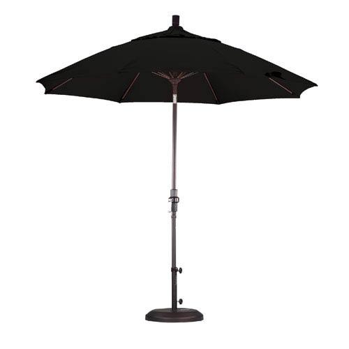 California Umbrella 9 Foot Umbrella Fiberglass Market Collar Tilt Bronze/Pacifica/Black