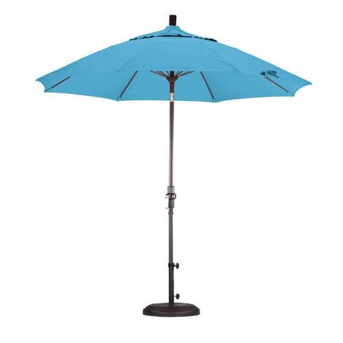 California Umbrella 9 Foot Umbrella Fiberglass Market Collar Tilt Bronze/Pacifica/Capri