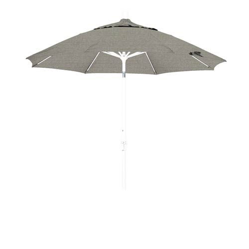 9 Foot Fiberglass Market Umbrella Collar Tilt Matte White/Sunbrella/Spectrum Dove