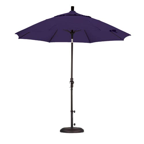 California Umbrella 9 Foot Umbrella Fiberglass Market Collar Tilt - Matted Black/Pacifica/Purple