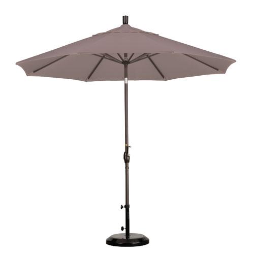 9 Foot Umbrella Aluminum Market Push Tilt - Bronze/Olefin/Champagne