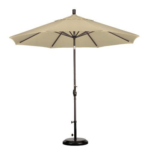 California Umbrella 9 Foot Umbrella Aluminum Market Push Tilt - Bronze/Pacifica/Beige