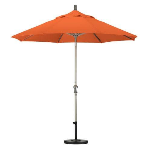 California Umbrella 9 Foot Umbrella Aluminum Market Auto Tilt Champagne/Sunbrella/Tuscan