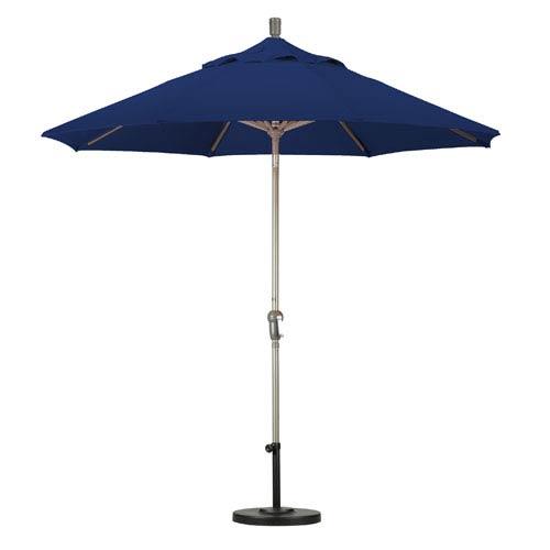 California Umbrella 9 Foot Umbrella Aluminum Market Auto Tilt Champagne/Sunbrella/Navy