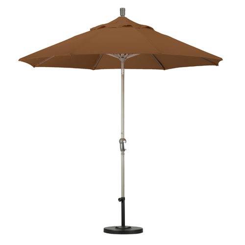 California Umbrella 9 Foot Umbrella Aluminum Market Auto Tilt Champagne/Sunbrella/Cork