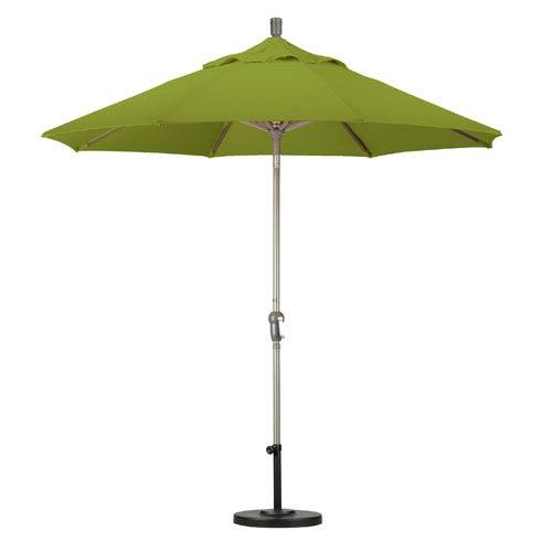 California Umbrella 9 Foot Umbrella Aluminum Market Auto Tilt Champagne/Pacifica/Ginkgo