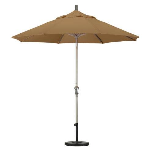 9 Foot Umbrella Aluminum Market Auto Tilt Champagne/Pacifica/Straw