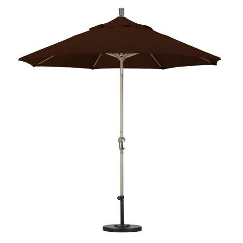 California Umbrella 9 Foot Umbrella Aluminum Market Auto Tilt Champagne/Pacifica/Mocha