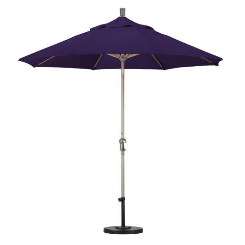 9 Foot Umbrella Aluminum Market Auto Tilt Champagne/Pacifica/Purple