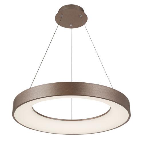 Acryluxe Sway Light Bronze Round LED Pendant