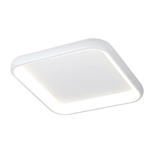 Acryluxe Polaris Matte White LED Flush Mount with Opal Acrylic Shade