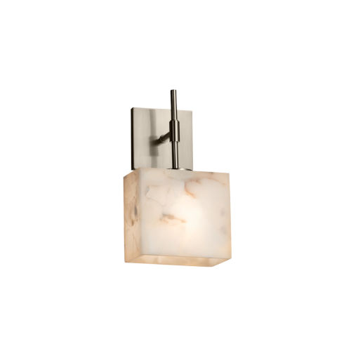 Alabaster Rocks Union Brushed Nickel One-Light Wall Sconce