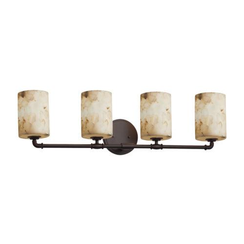 Alabaster Rocks Dark Bronze Four-Light LED Bath Vanity