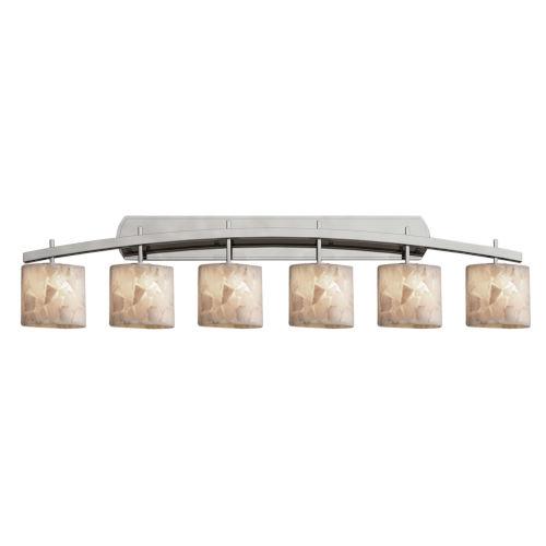 Alabaster Rocks Archway Brushed Nickel Six-Light Bath Vanity