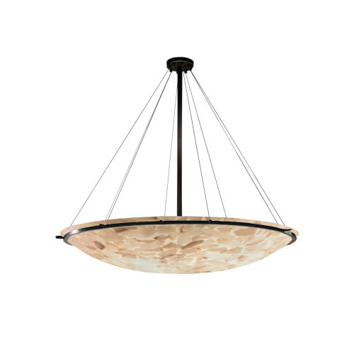Alabaster Rocks Dark Bronze Nine-Light LED Pendant