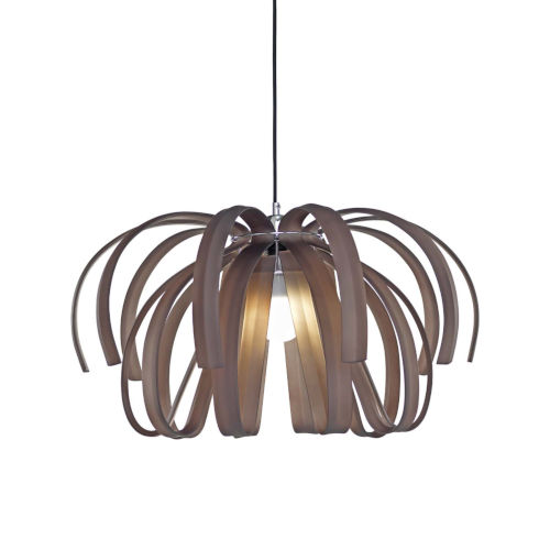 Bohemia - Danubio Polished Chrome 28-Inch LED Chandelier with Frosted Smoke