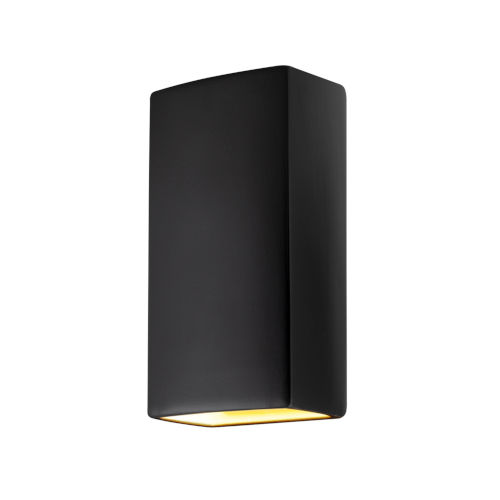Ambiance Carbon Matte Black 11-Inch Two-Light Closed Top and Bottom GU24 LED Rectangle Outdoor Wall Sconce