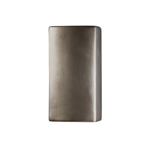Ambiance Antique Silver ADA LED Outdoor Ceramic Wall Sconce