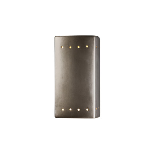 Ambiance ADA LED Outdoor Ceramic Rectangle Wall Sconce with Perfs