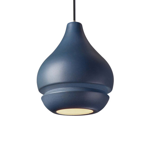Radiance Midnight Sky Ceramic and Brushed Nickel Eight-Inch One-Light Mini Pendant