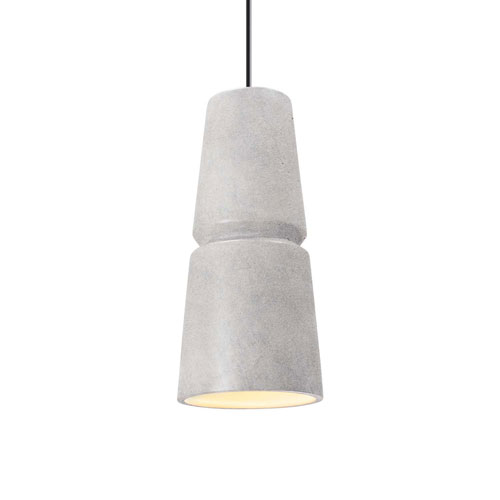Radiance Concrete Ceramic Six-Inch One-Light Mini Pendant