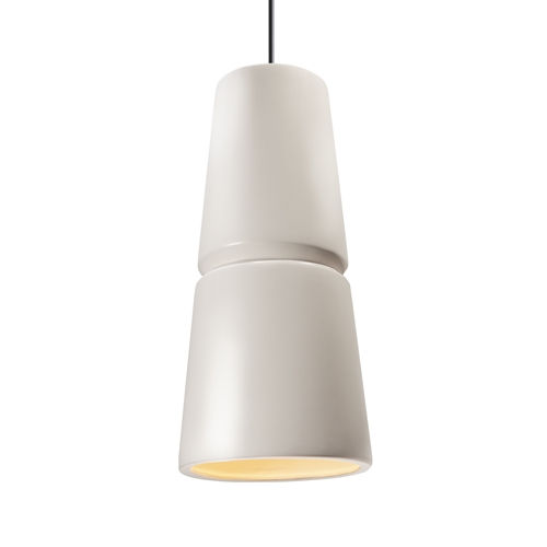 Radiance Matte White and Polished Chrome One-Light Mini Pendant