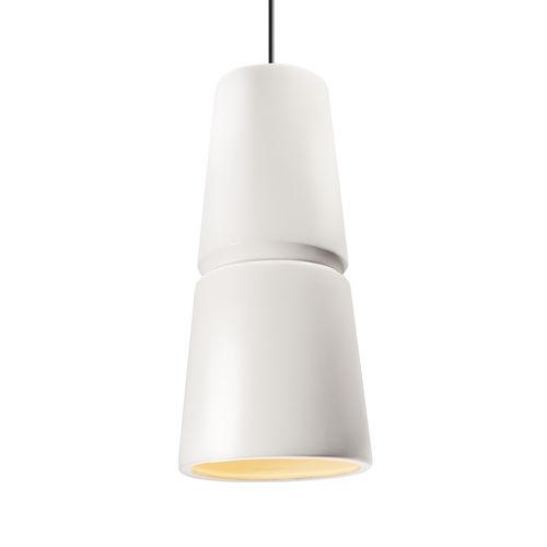 Radiance Cone Gloss White and Matte Black One-Light Mini Pendant