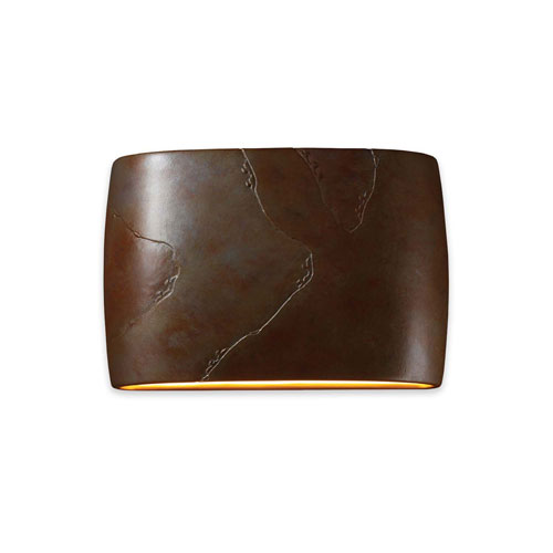 Ambiance Tierra Red Slate 16-Inch Two-Light Open Top and Bottom Wall Sconce