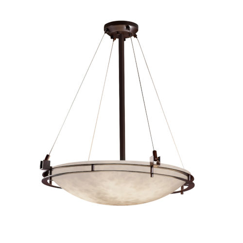 Clouds Dark Bronze Five-Light LED Pendant