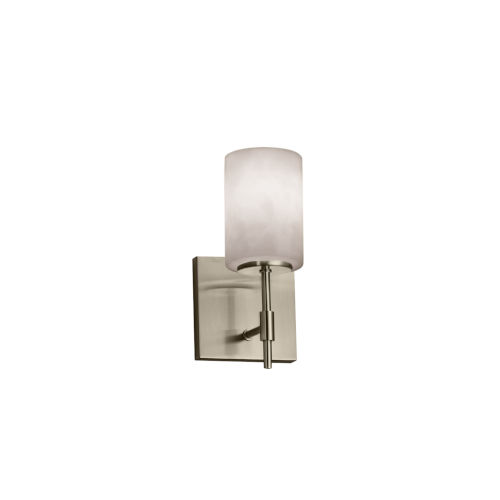 Clouds Union Brushed Nickel One-Light Cylinder Wall Sconce