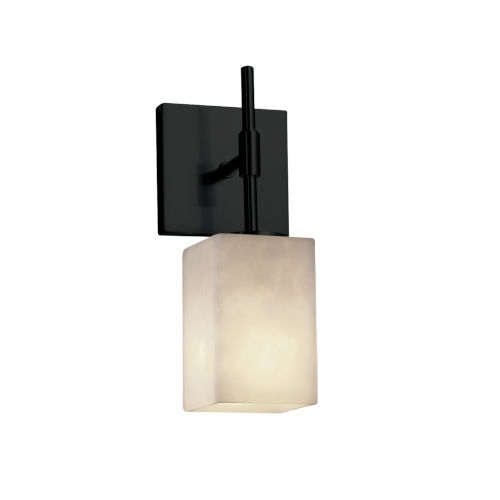 Clouds Matte Black One-Light Wall Sconce
