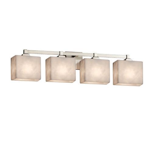 Clouds Regency Brushed Nickel Four-Light LED Bath Vanity